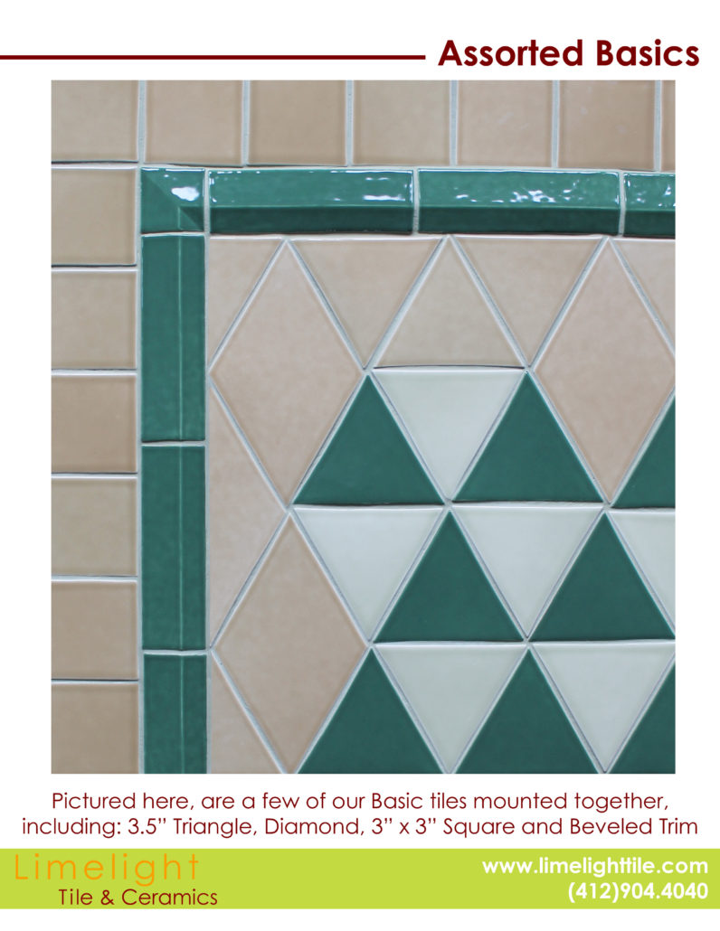 Custom Ceramic Tiles | Basics & Trims | LimelightTile.com